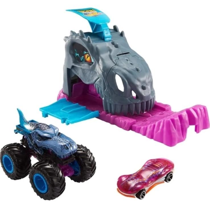Hot Wheels Monster Trucks  Carro com Lançador  Team Mega-Wrex GKY01
