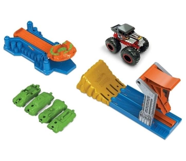 Hot Wheels Monster Trucks Conjunto Launch e Bash  GVK08