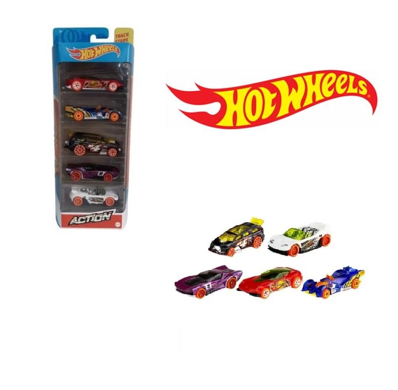 Hot Wheels  pack 5 Action  Mattel