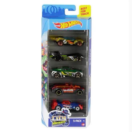 Hot Wheels - Pack 5 Robo Beasts - Mattel