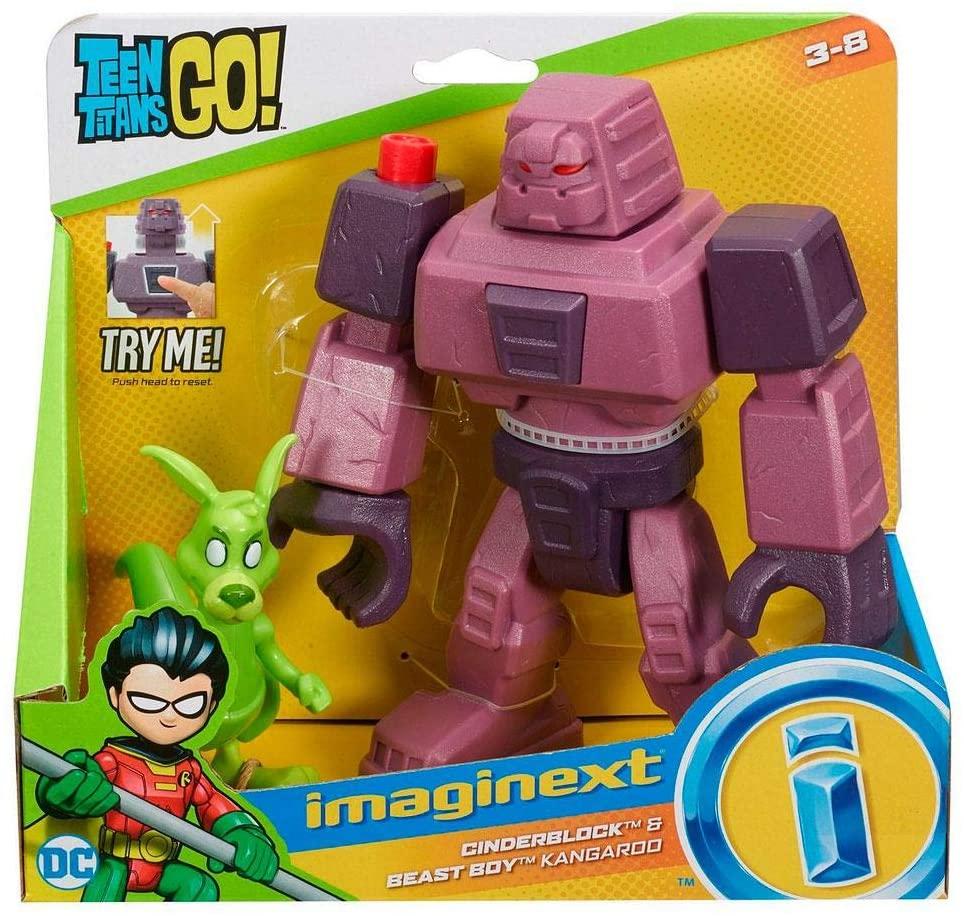 Imaginext Teen Titans Go  Cinderblock e Mutano Canguru Mattel DTM82