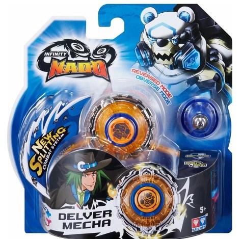 Lançador e Pião de Batalha Infinity Nado Standard Series Delver Mecha Candide 3901