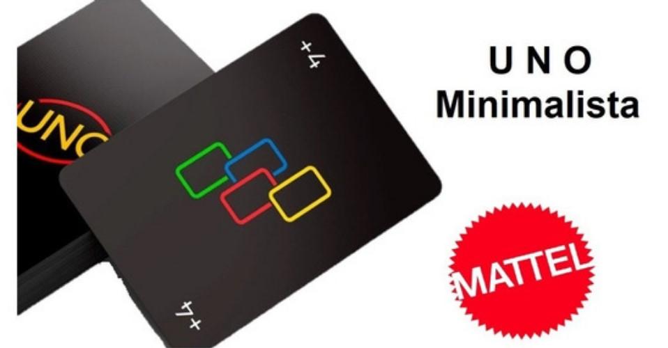 Jogo de cartas Uno minimalista Mattel gyh69