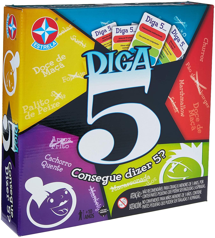 Jogo De Tabuleiro Estrela Diga 5 - Novo Original