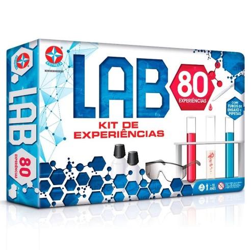 Jogo Lab Kit De Experiências Com 80 Experiências - Estrela