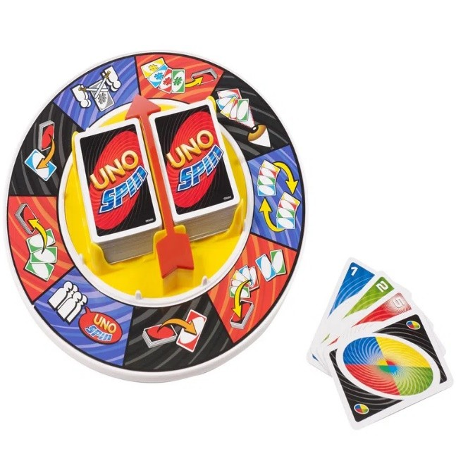 Jogo uno spin k2784 mattel jogo de cartas e roleta