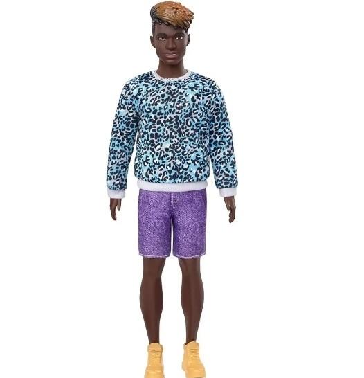 Ken Fashionistas 153 Negro Com Bermuda Roxa - Mattel - GHW69