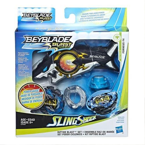 Kit Beyblade e Lançador Hasbro Slingshot Oceanus-Hasbro-E5566