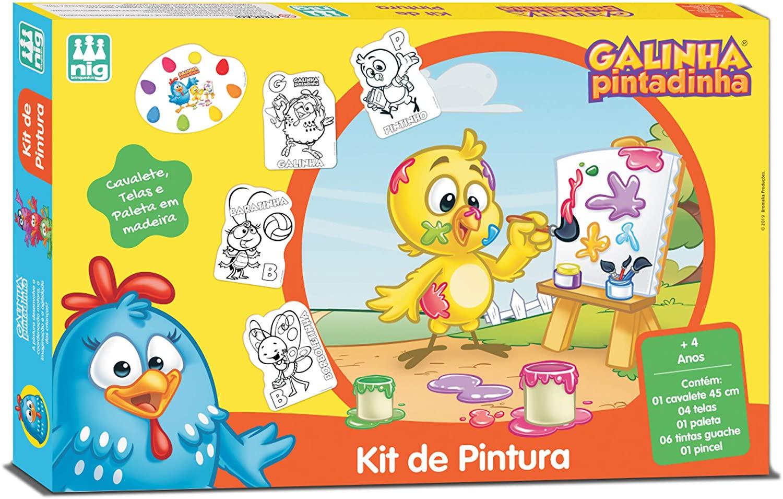 Kit De Pintura Infantil Galinha Pintadinha Madeira - Nig Brinquedos