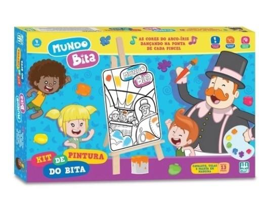 Kit De Pintura Infantil Mundo Bita Em Madeira - Nig Brinquedos