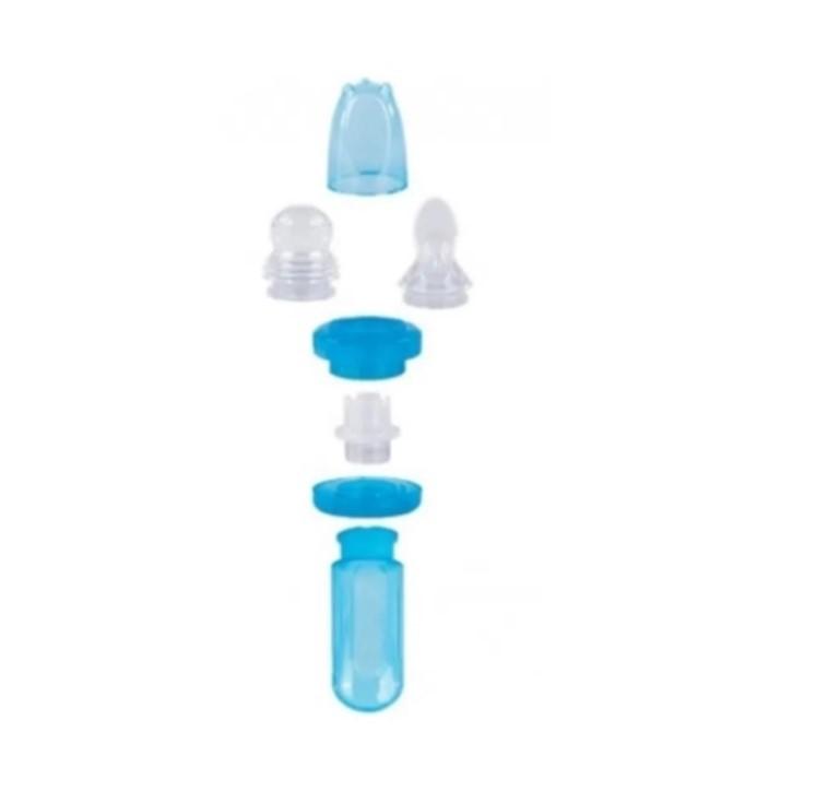 Kit Porta Frutinha E Colher Dosadora Azul Buba