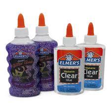 Kit Slime Starter Pack Com 2 Colas Glitter E 2 Colas Transparente Toyng