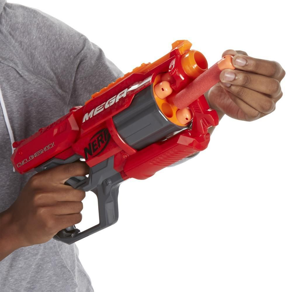 Lança dardo Nerf Mega Cycloneshock- Hasbro- A9353