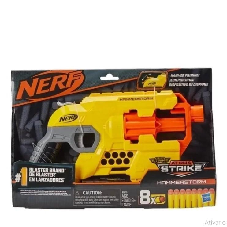 Lança Dardos Nerf Alphastrike Hammerstorm E8676  Hasbro
