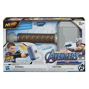 Lança Drado Nerf Avengers Power Moves Martelo do Thor - Hasbro E7379