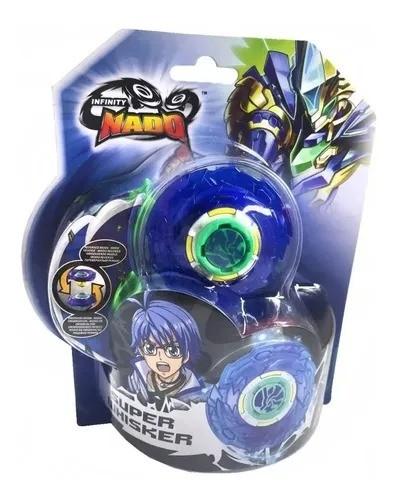 Lançador e Pião de Batalha Infinity Nado Plastic Super Whisker Candide