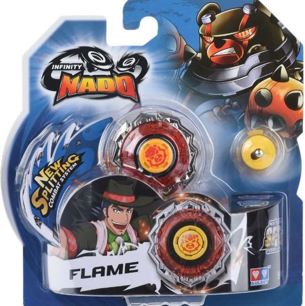 Lançador e Pião de Batalha Infinity Nado Standard Series Flame - Candide