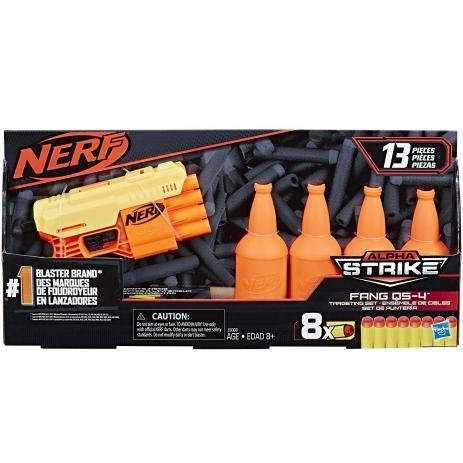 Lançador Nerf Alpha Strike Fang Qs-4 Target Set Hasbro E8309