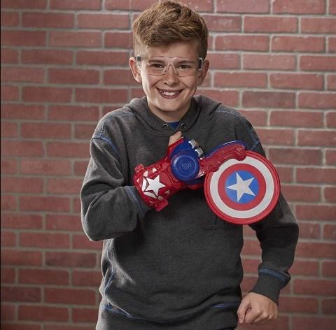 Lançador Nerf Capitão America Power Moves Marvel Avengers E7375 - Hasbro