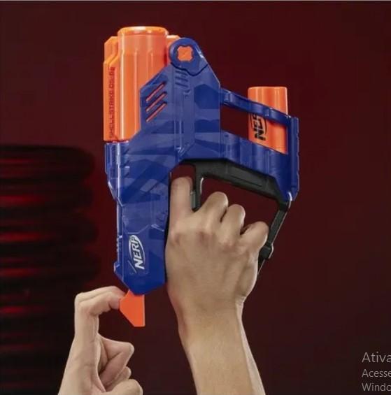Lançador Nerf Elite Shellstrike Ds 6 Hasbro E6171