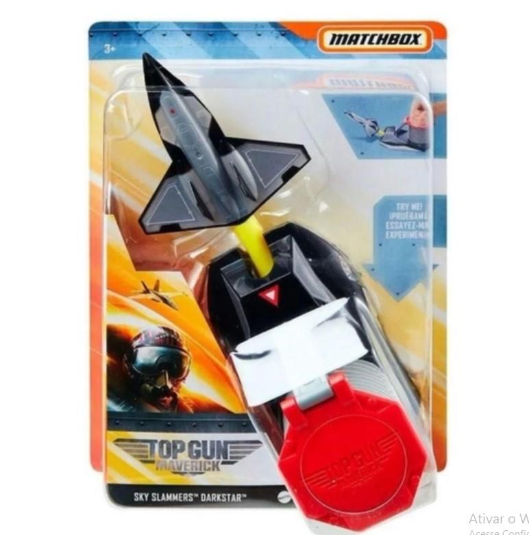 Lançador Top Gun Avião Maverick Matchbox Mattel GPG52