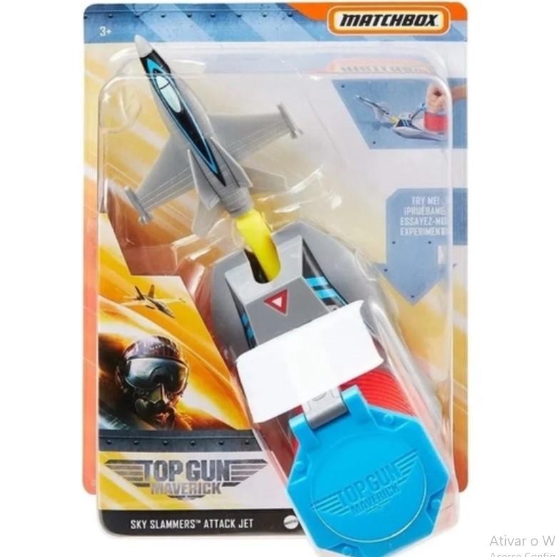 Lançador Top Gun Sky Slammer Sky Slammers Attack Jet  Mattel  GPG53