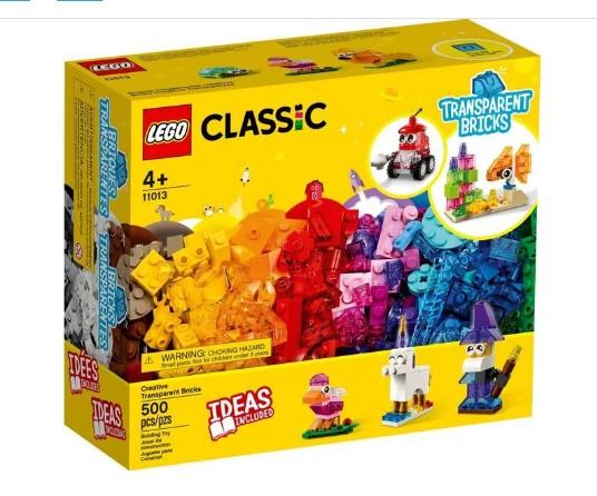 LEGO Classic  Blocos Transparentes Criativos  11013