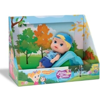 Little Dolls Playground - Boneco Menino Com Escorregador - Divertoys