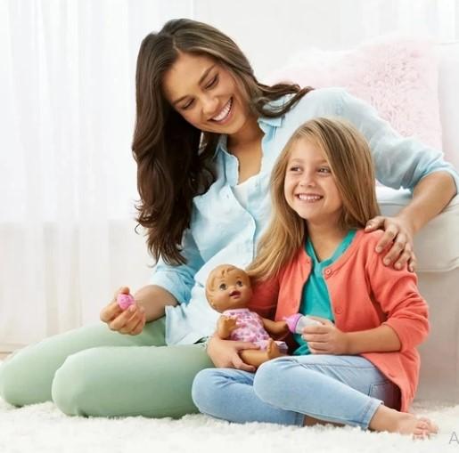 Little Mommy Bebê Faz Xixi Hora Morena Mattel