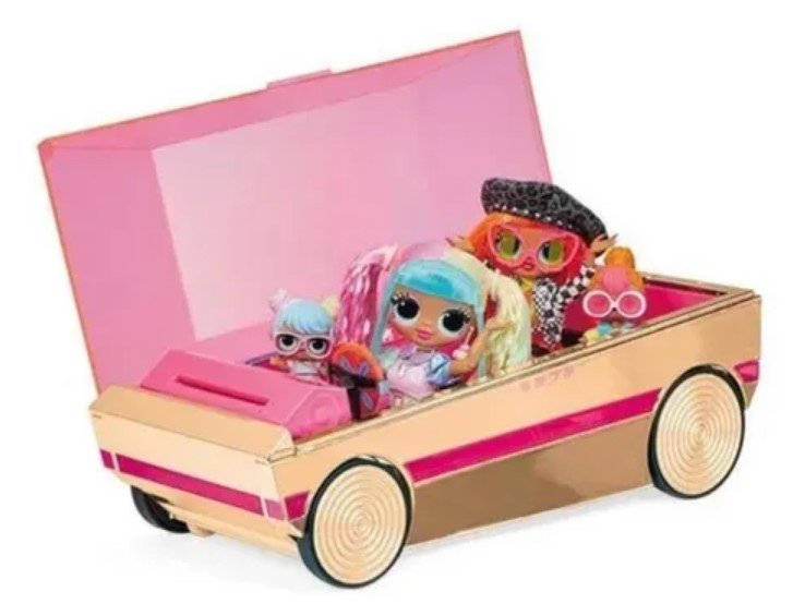 Lol Surprise 3 em1 Party Cruiser Carro Pista Dança Piscina