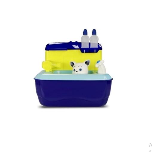 Maleta Azul Pet Shop Gatinho Com Acessórios 5859 Roma