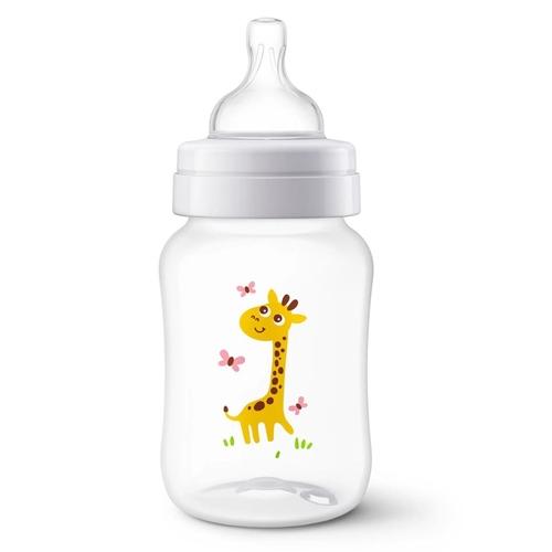 Mamadeira 260ml Girafinha  Bico 1m+ Anticolica Avent