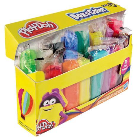 Massinha Play Doh Bastão Box Color com 16 cores - Hasbro