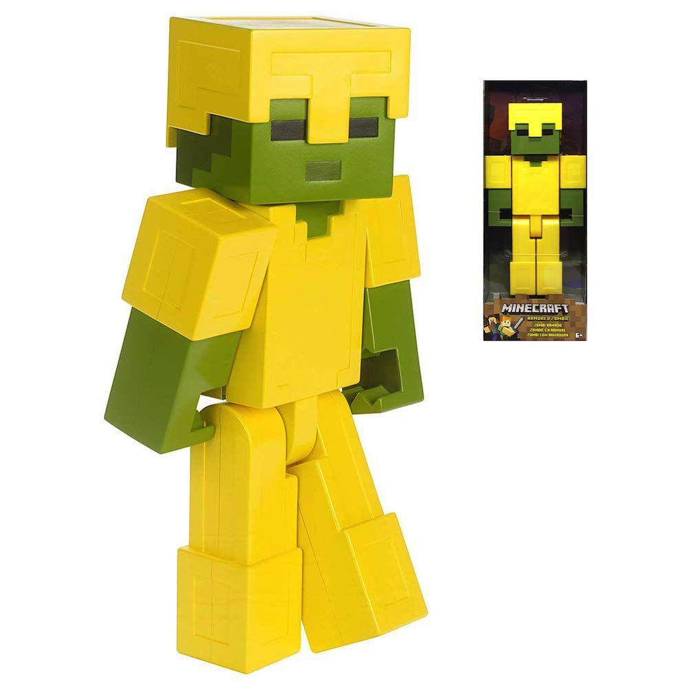 Minecraft Zumbi com Armadura 30 cm - Mattel - FLC70