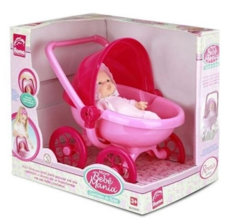 Mini Bebê Mania Carrinho De Bebê Roma 5359