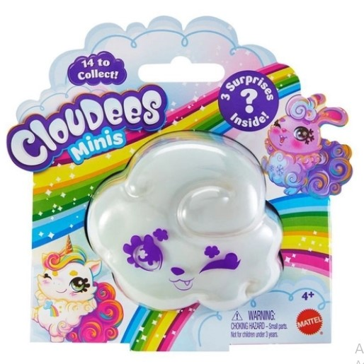 Mini Figura Surpresa - Cloudees Minis - 3 Surpresas - Mattel