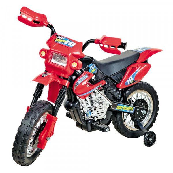 Moto Elétrica Infantil 6V Motocross Vermelha- Homeplay