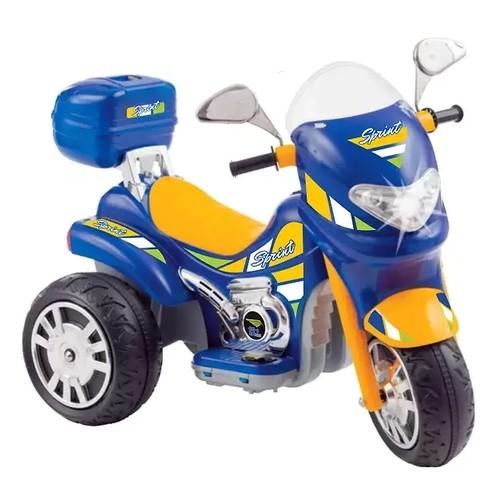 Moto Elétrica Sprint Turbo Azul 12V C/Capacete 671 - BIEMmE