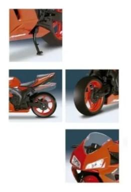 Moto Rodas Livres - Roma Racing Motorcycle - Laranja- Roma
