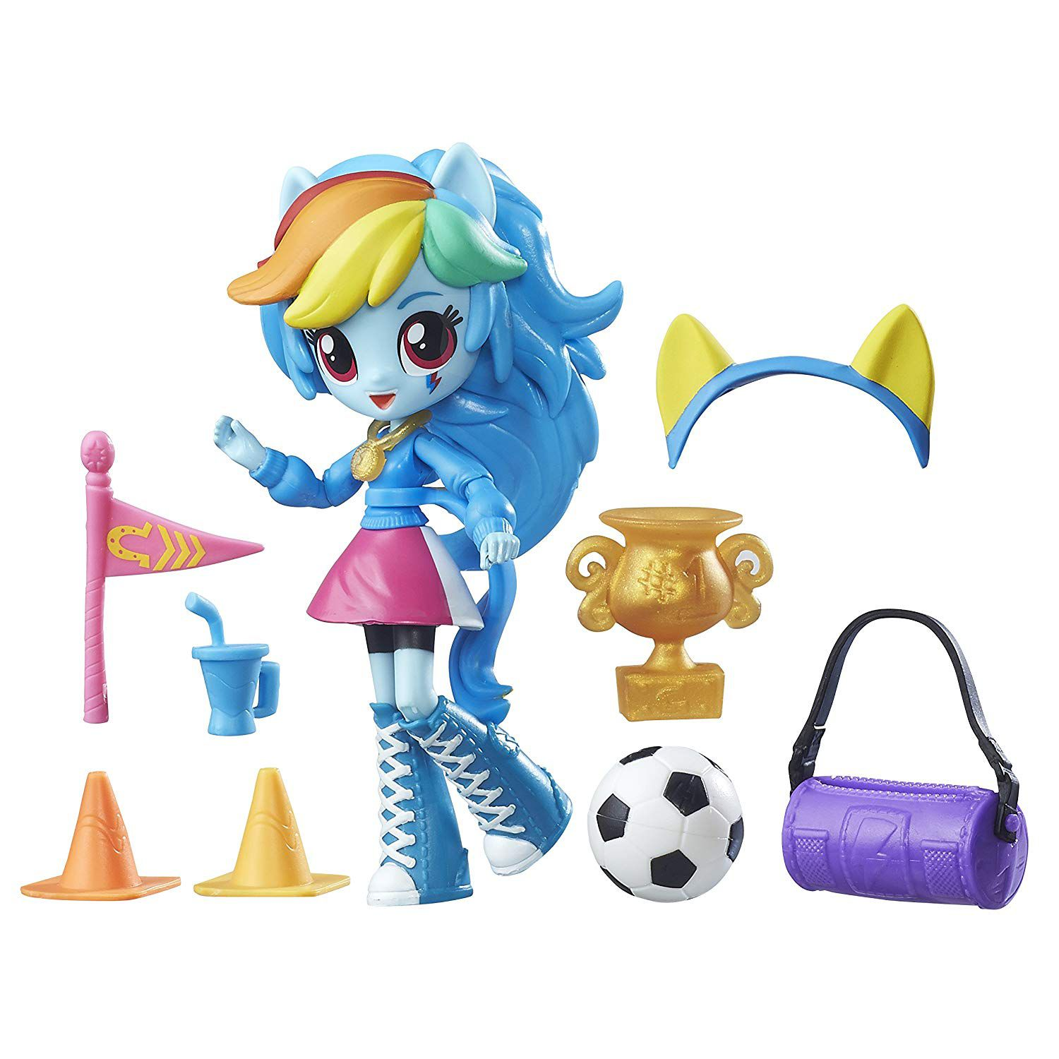 My Little Pony Equestria Girls - Rainbow Dash torcida do Colégio- Hasbro- B4909