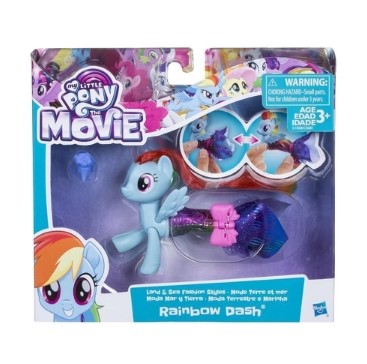 My Little Pony Moda Terrestre E Marinha Rainbow Dash - Hasbro C1828