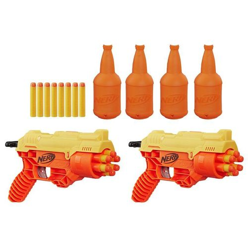 Nerf  Lançador Alpha Strike Cobra Rc-6 - Kit Duplo Com Alvos- Hasbro-E7566