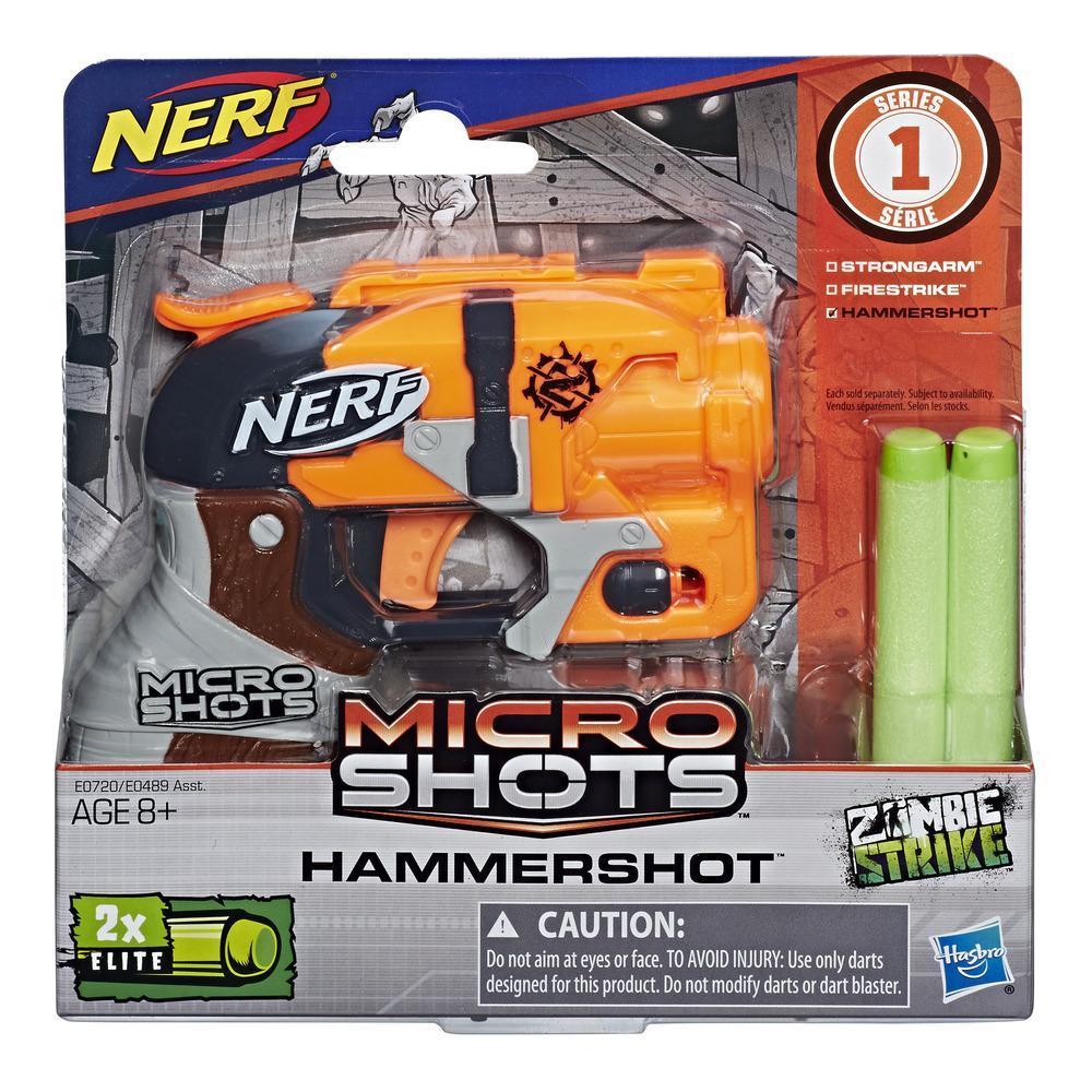 Nerf MicroShots Zombie Strike - Hammershot- Hasbro- E0489