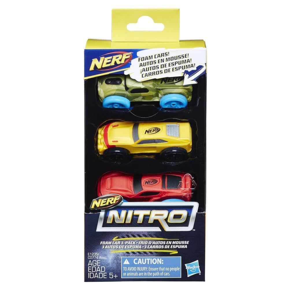 Nerf Nitro Kit com 3 Carrinhos de Espuma versão 7Hasbro C0774