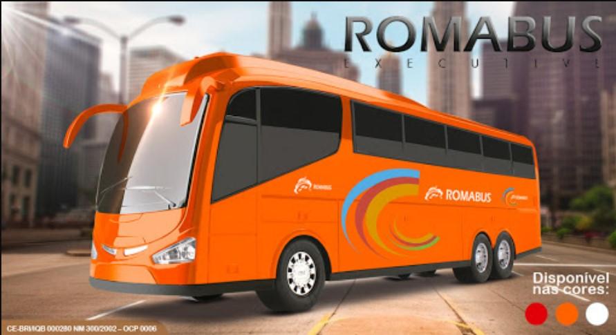 Ônibus Roma Bus Executive Laranja Roma Brinquedos 1900