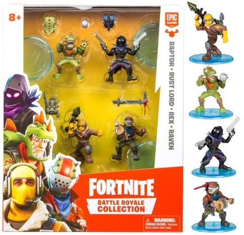 Pack 4 Figuras Fortnite Battle Royale Collection Fun 84708