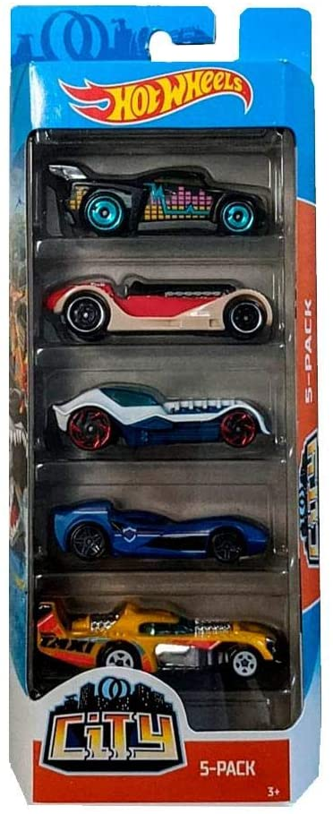 Pack 5 Carrinhos Hot Wheels City - Mattel