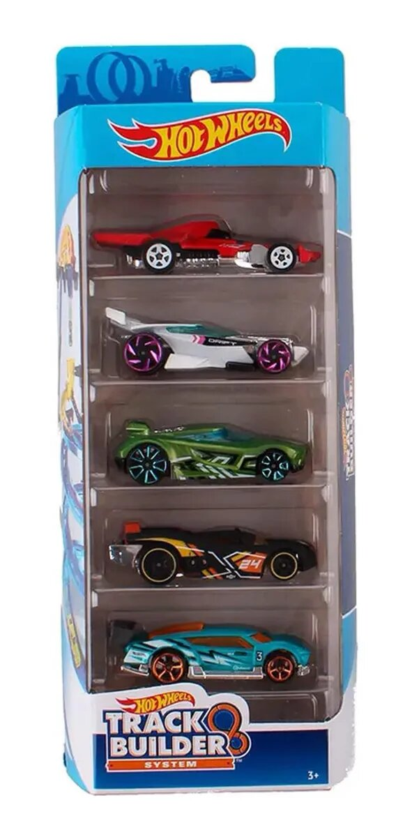 Pack de 5 Hot Wheels - Track & Builder 2020 - FYL22
