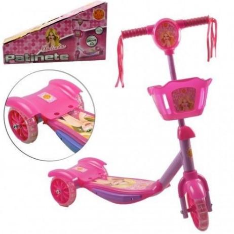 Patinete Menina 3 Rodas Para Crianças Com Cesta Belinda Dmr5027