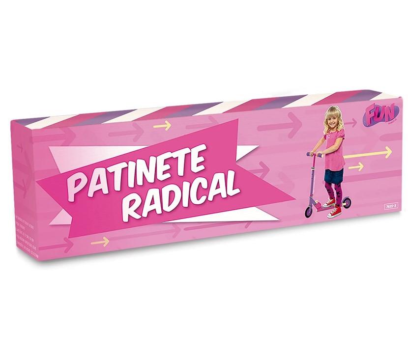 Patinete Radical Girls Fun Brinquedos Rosa/Roxa